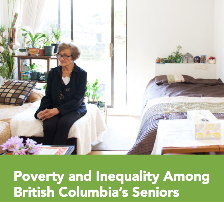 poverty and inequality among bc seniors graphic