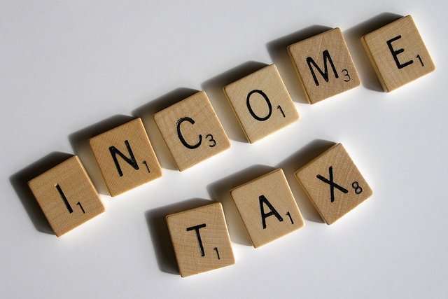 income tax scrabble letters
