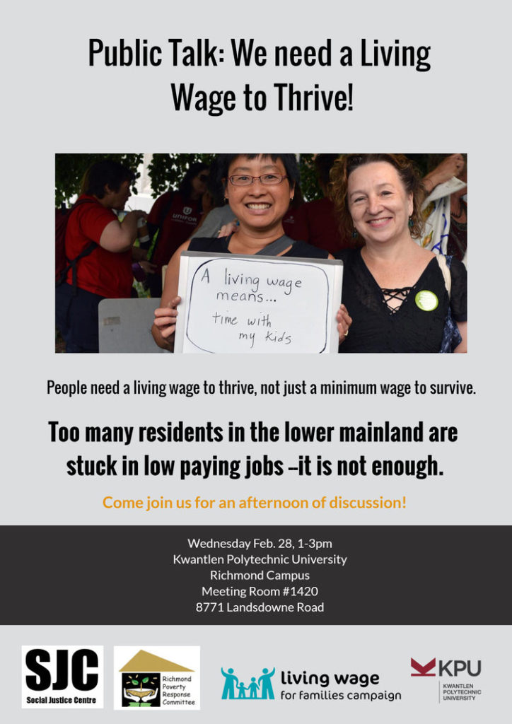 living wage event poster