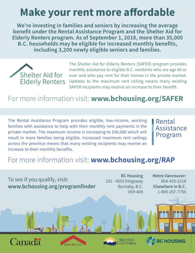 bc rental assistance program poster