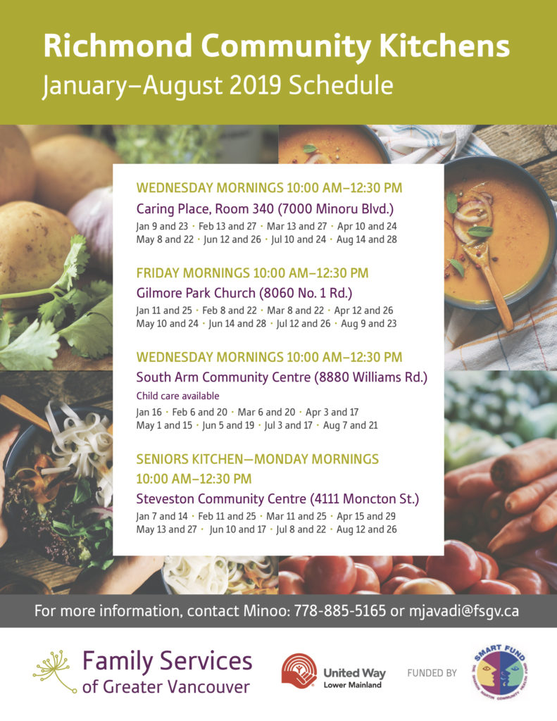 richmond community kitchen family services of greater vancouver