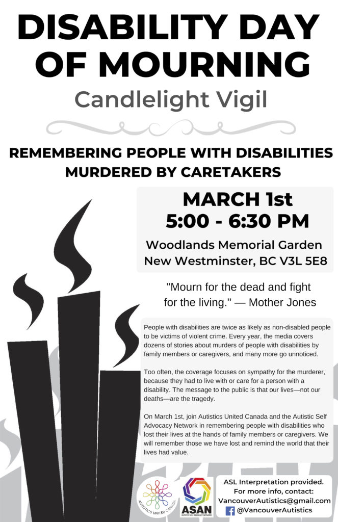disability day of mourning poster