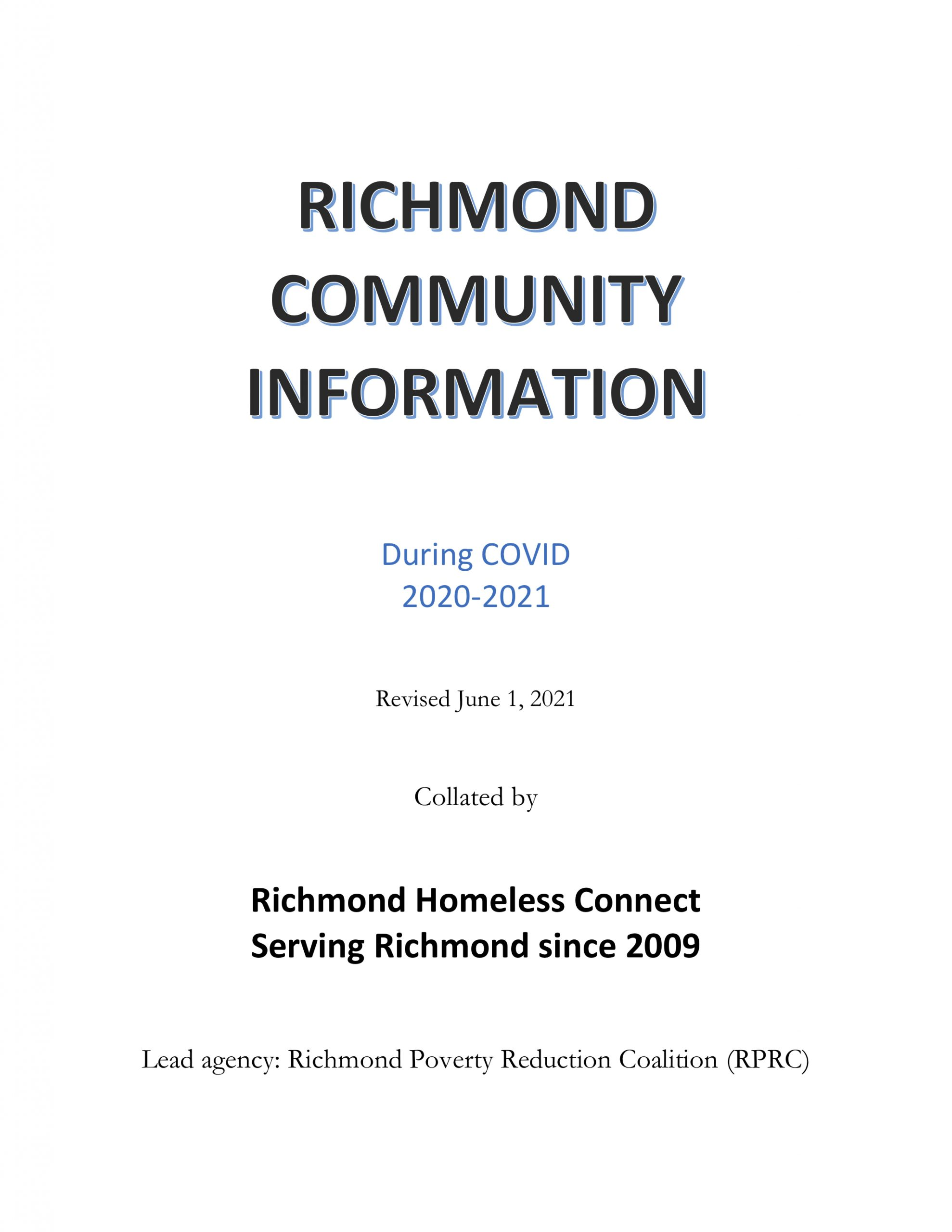 richmond community information during covid booklet